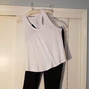 Fabletics Pants - Fabletics Set. Black Artemis Pants w/ White Tank